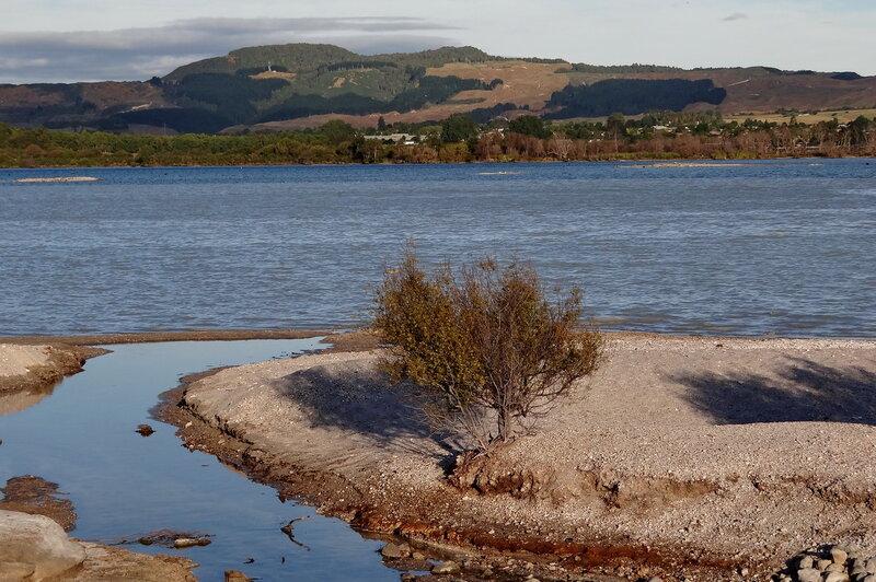 На озере Роторуа перед закатом