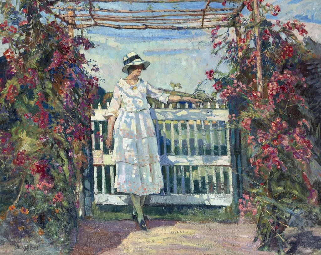 Edgard WIETHASE -  Young woman in the rose garden  - 38557-617.jpg