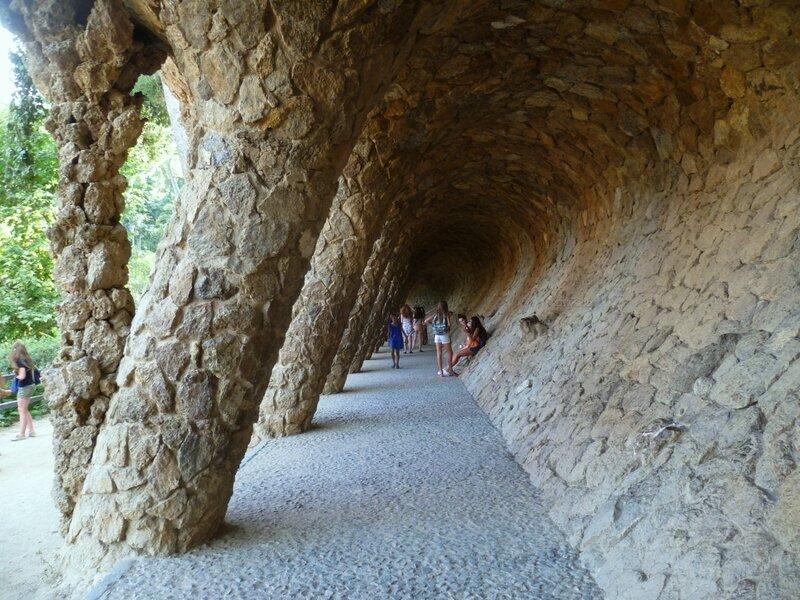Барселона, парк Гуэля (Barcelona, Park Guell)