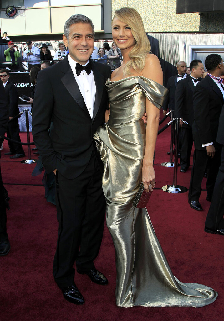 Actor George Clooney and girlfriend Stacy Keibler