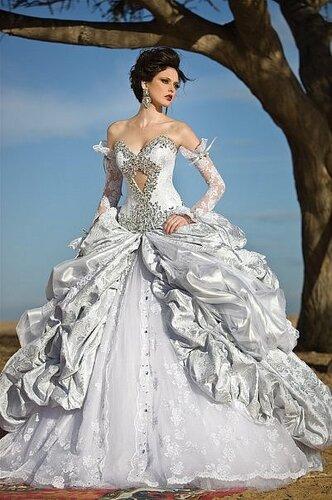 Военно свадебное платье