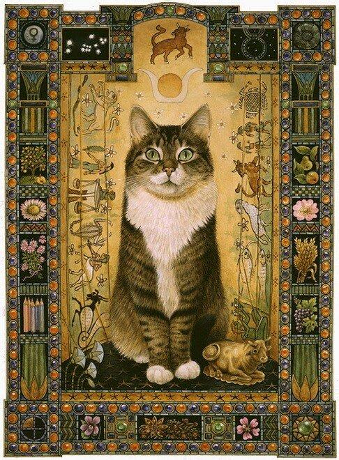 Кошки бывают разные и даже в горошек!) Художница Leslie Anne Ivory