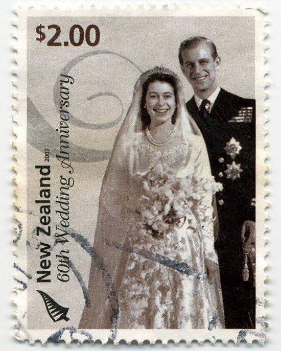 Марка в честь бриллиантовой свадьбы