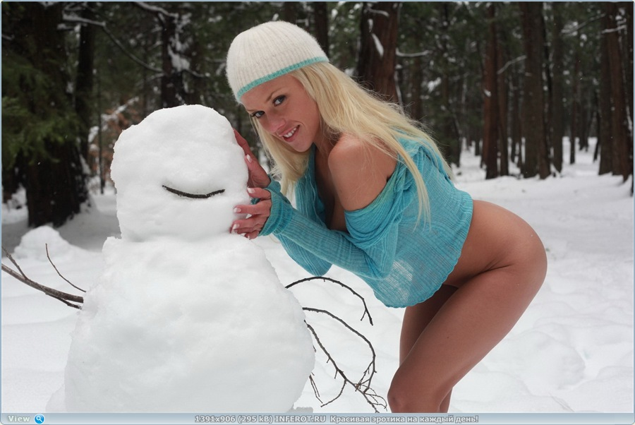 Стриптиз для снеговика... (20 фото)