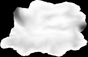 Клипарт луна в облаках