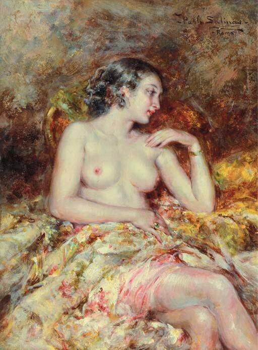 Испанский художник Juan Pablo Salinas (1871-1946)