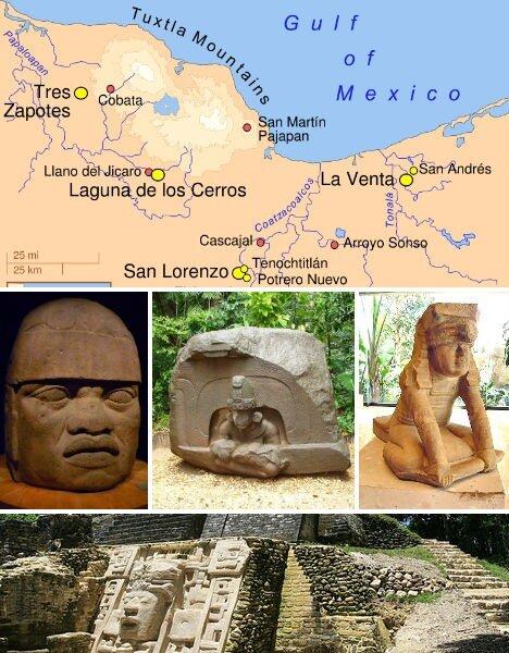цивилизация ольмеков, мексика