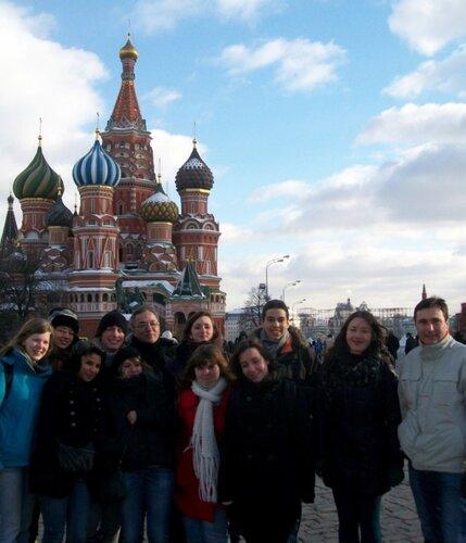 Экскурсия на Красную площадь в рамках программы студенческого обмена РГГУ и лицея Бельвю (Франция)