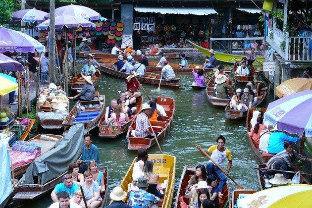 Плавучий рынок Damnoen Saduak