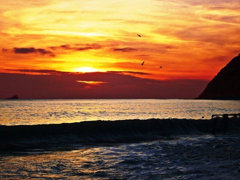 Закат на море 4