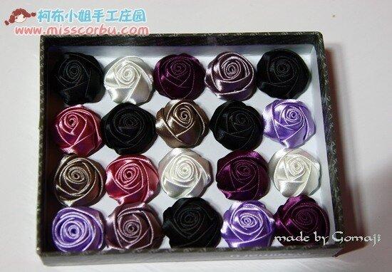 Красивые розы из атласной ленты.  Фото-мастер-класс.