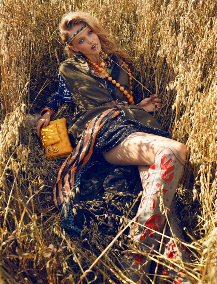 модель Фрида Густавссон / Frida Gustavsson, фотограф Magnus Magnusson
