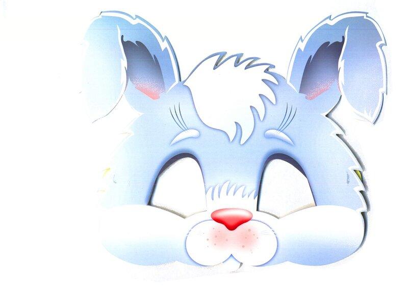 Картинки маска зайчик