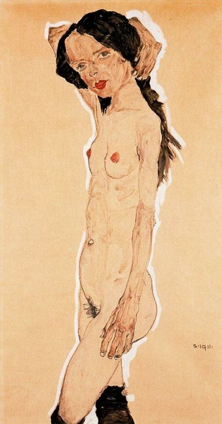 Стоящая обнажённая,1911, Шиле Эгон (1890-1918)