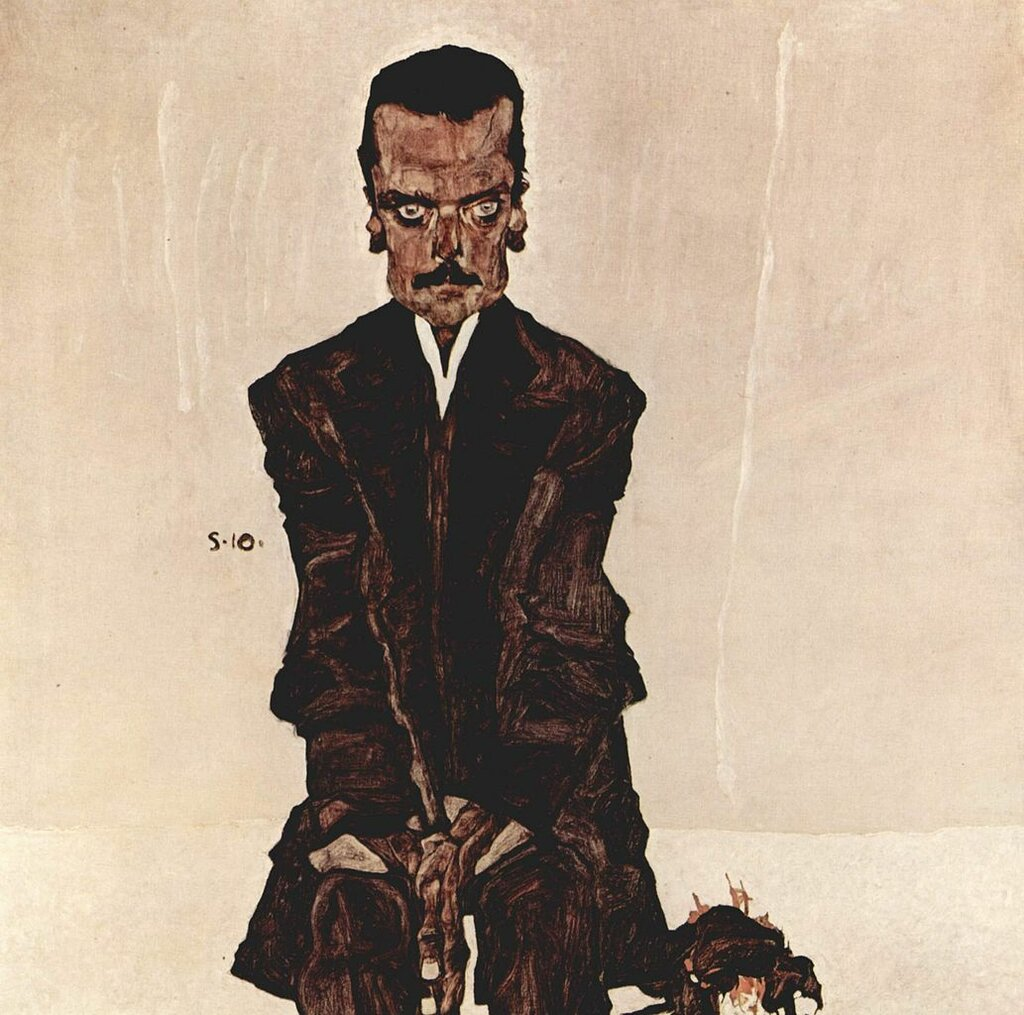 Портрет Эдуарда Козмака (Eduard Kosmack) 1910, Австрийская галерея Бельведер,Шиле Эгон (1890-1918)