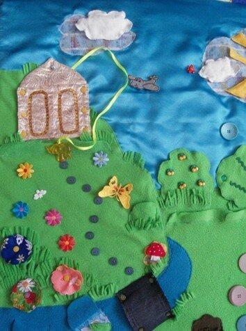 Развивающий коврик для детей... холм