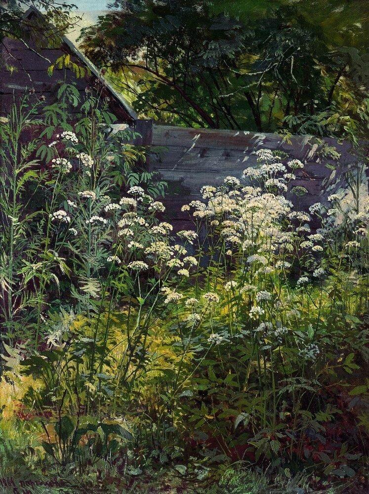 Уголок заросшего сада.Сныть-трава 1884 54,3х41,7.jpg