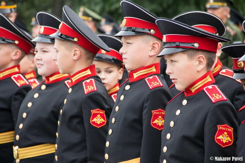 Церемония посвящения в суворовцы 2015