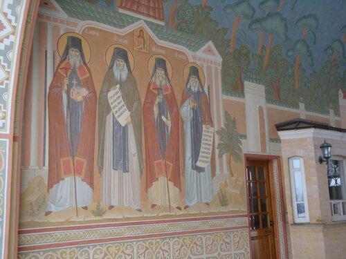 Роспись святых ворот монастыря Оптина Пустынь