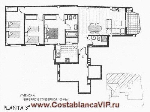 квартира в Gandia, квартира в Гандии, квартира на пляже, квартира в Испании, недвижимость в Испании, Коста Бланка, CostablancaVIP