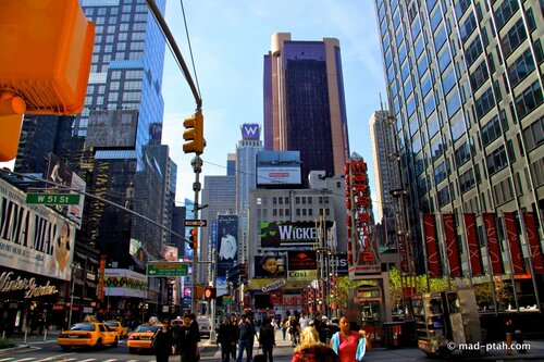 нью-йорк, таймс-сквер, сша