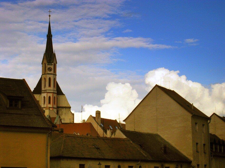 крыши Крумлова