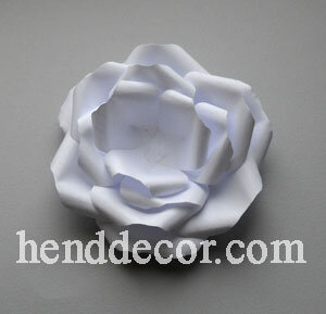 Бумажный цветок своими руками шаблоны