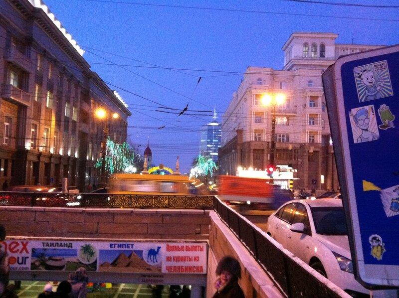 Зелёный оазис в начале улицы Кирова