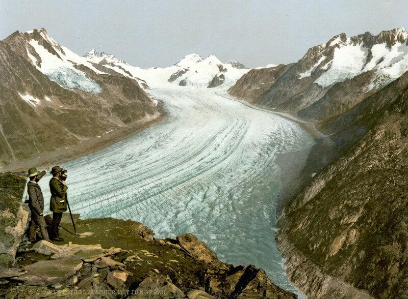 13. Эггисгорн, Большой ледник Алеч с Юнгфрау, Мёнхом и Эйгером