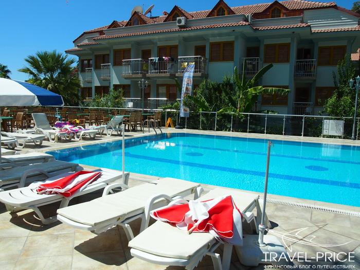 бассейн в отеле Дориан