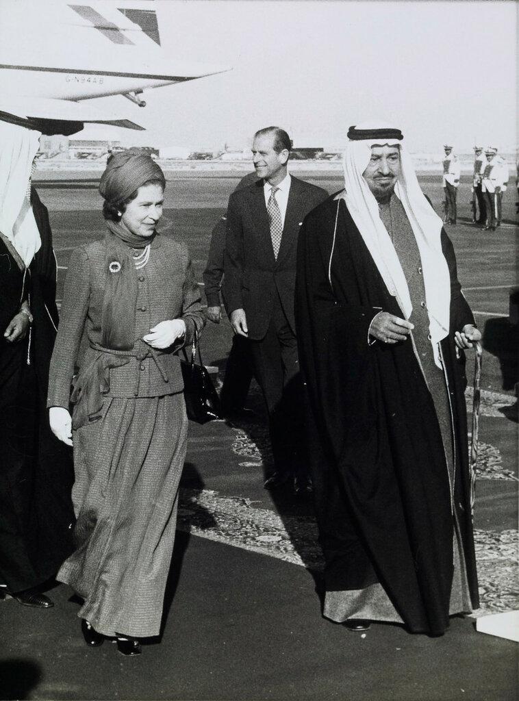 Ее Величество Королева Елизавета II прибыла в Саудовскую Аравию  1979