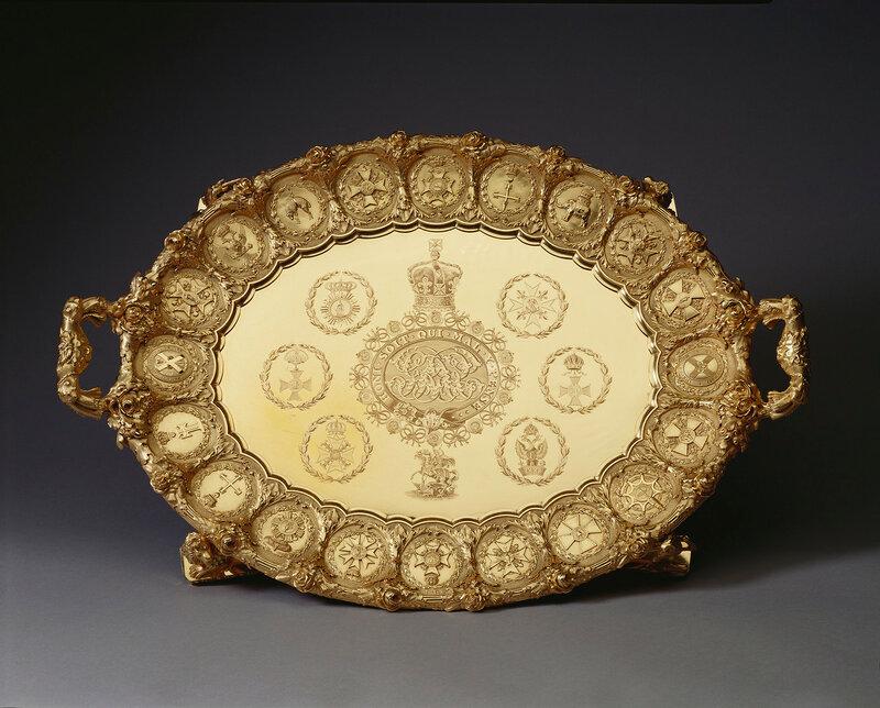 Филипп Ранделл (1746-1827)Лоток  отличительной чертой 1821/2 Золотые