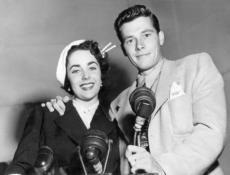 Elizabeth TAYLOR und Conrad HILTON jr., USA 1950