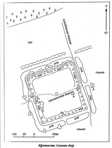 План крепости Саман-дер