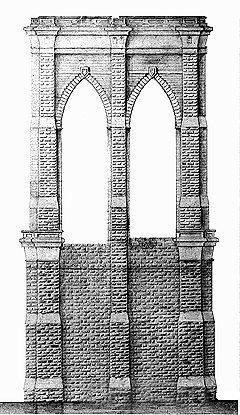 Бруклинский мост, опора
