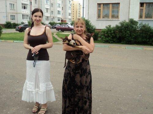 Люба с дочерью Ольгой