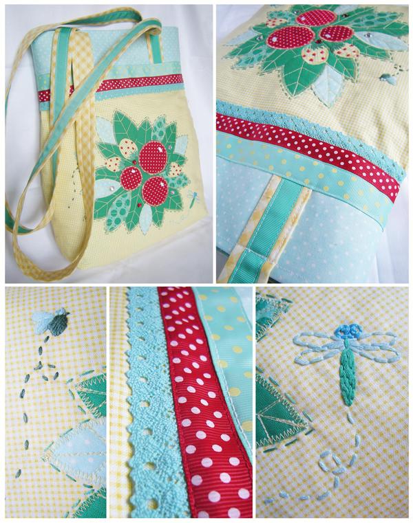 Нижняя часть сумки уплотнена клеевым синтепоном, а верхняя дублирином.  Застежка магнитная, внутри карман.