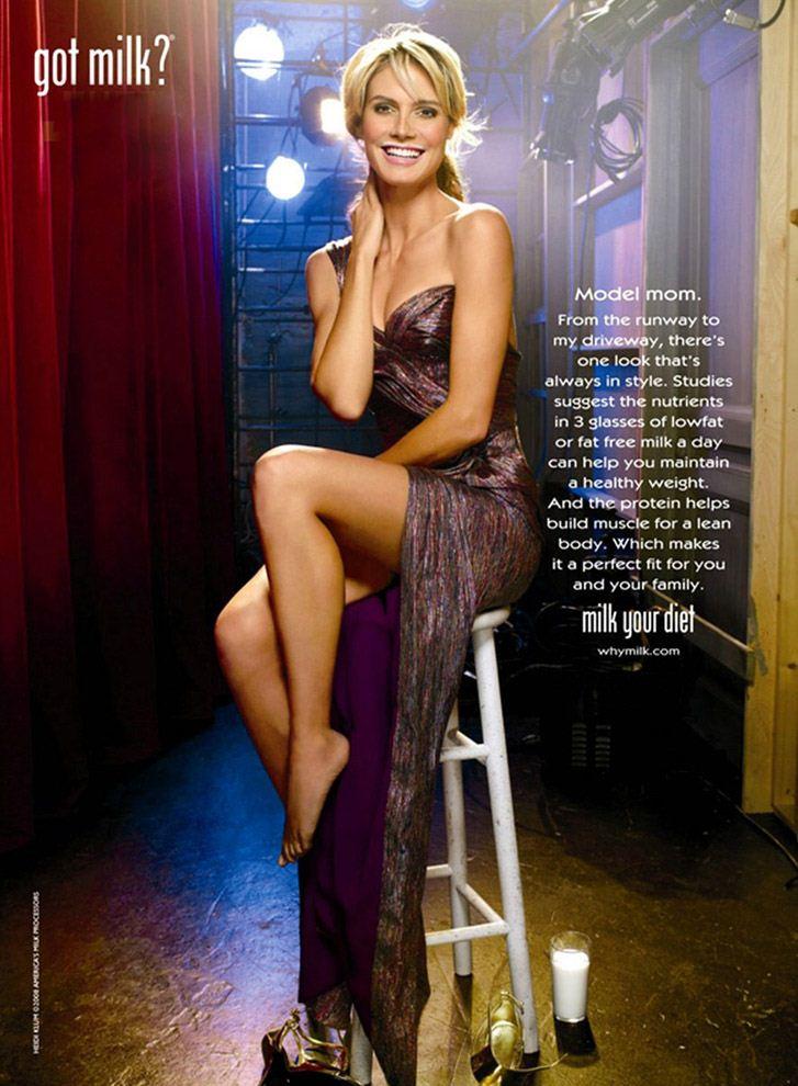 модель Хайди Клум / Heidi Klum for Got Milk 2011