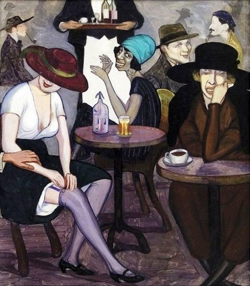 In a Café, 1920 Shalva Kikodze (1894-1921)