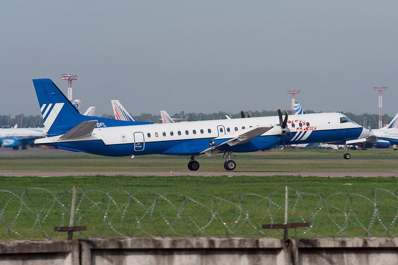 Saab 2000 (VP-BPL) Полет DSC2738