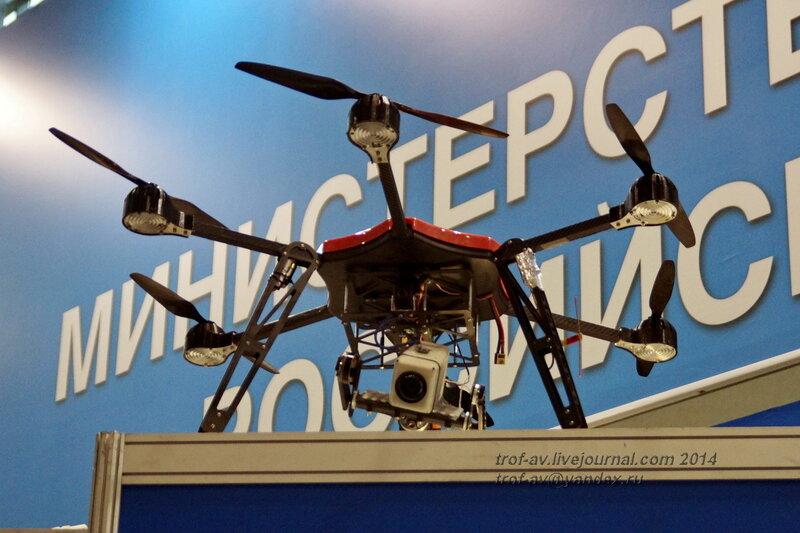 БПЛА вертолетного типа БЛАСКОР. INTERPOLITEX-2014, Москва