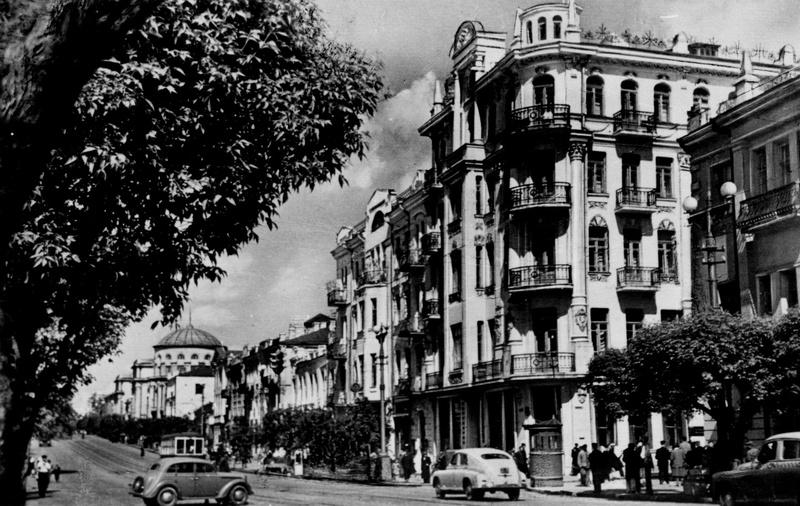 Винница послевоенная. Центр города