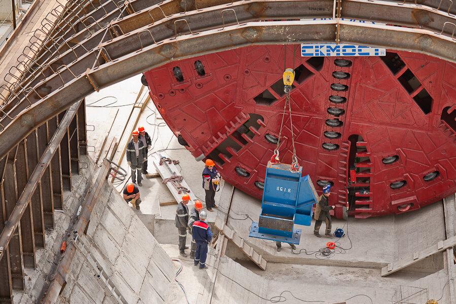 Монтаж тоннелепроходческих комплексов / Installation of TBM