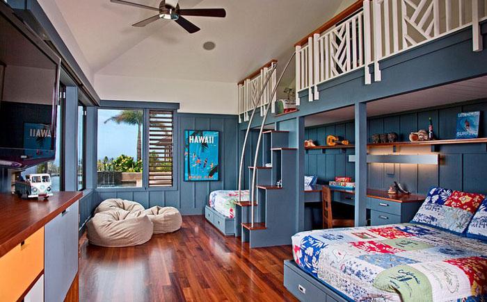 Тропическое веселье: 20 потрясающих интерьеров детских комнат