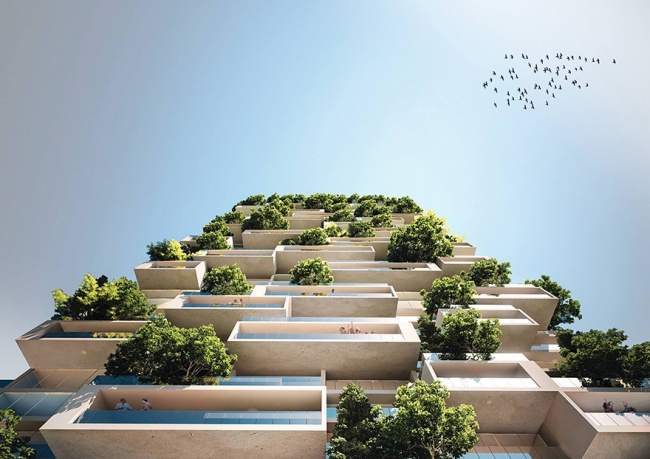 Две похожие башни высотой 110 и76метров уже построены попроекту архитектора вМилане.