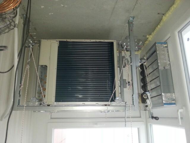 Кондиционер на балконе с витражным остеклением: 2 варианта у.