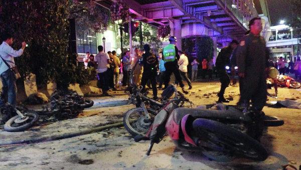 Вглобальной паутине появилось видео сегодняшнего взрыва вБангкоке