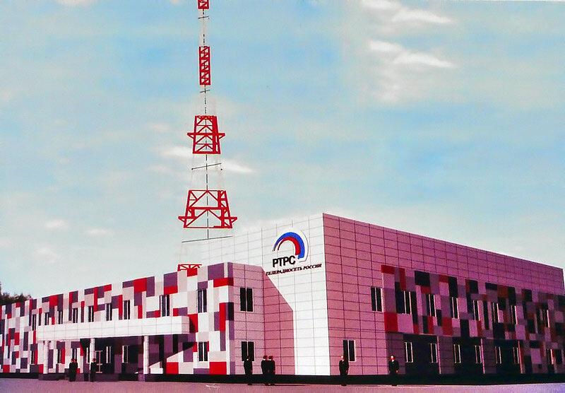 Эскиз новых зданий белгородского телецентра