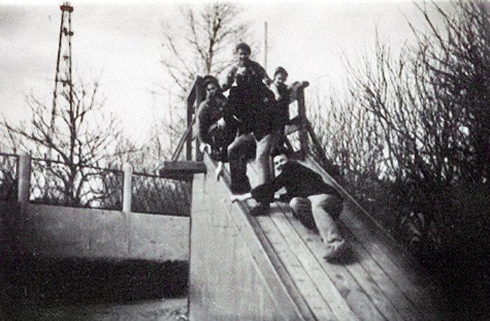 Первая белгородская телевышка и окраина парка. Фото из архива А.Лимарова