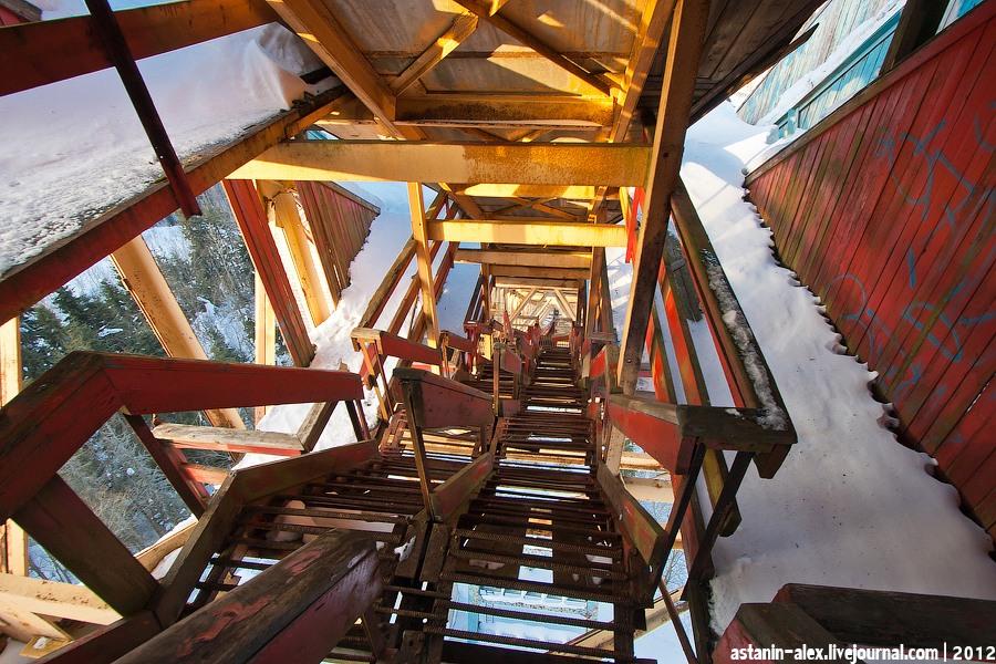 Лестница к стартовым площадкам